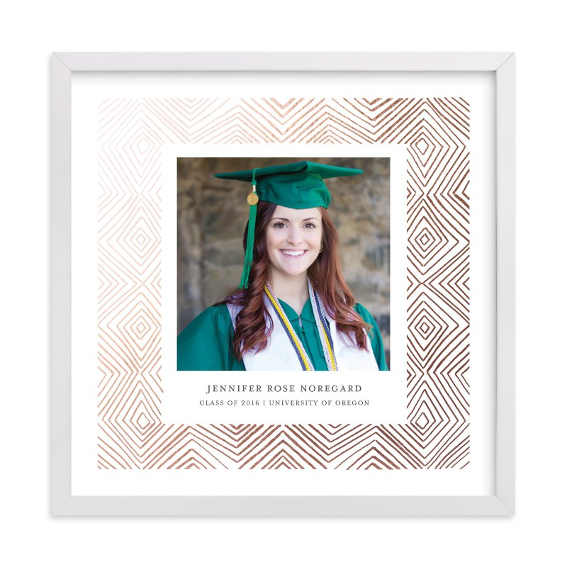 """Hand-Drawn Ikat Grad"" - Foil Pressed Photo Art Print by Paper Dahlia in beautiful frame options and a variety of sizes."