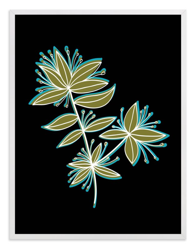 """""""botanical leaves"""" - Art Print by aticnomar in beautiful frame options and a variety of sizes."""
