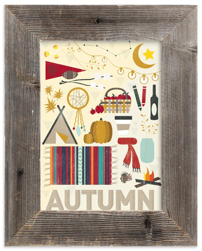 """4 Seasons : Autumn"" - Art Print by Kate Capone aka Oh So Suite in beautiful frame options and a variety of sizes."