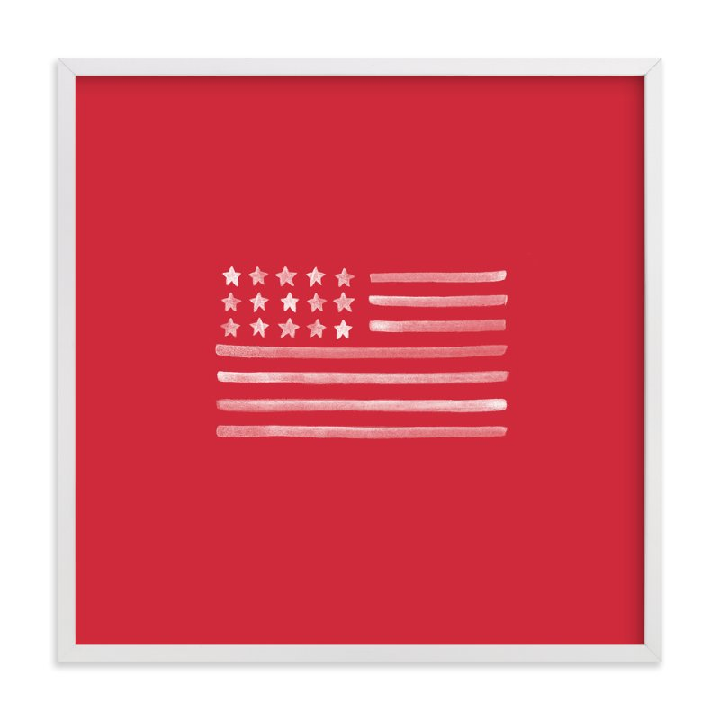 """Americana "" - Art Print by Melissa Kelman in beautiful frame options and a variety of sizes."