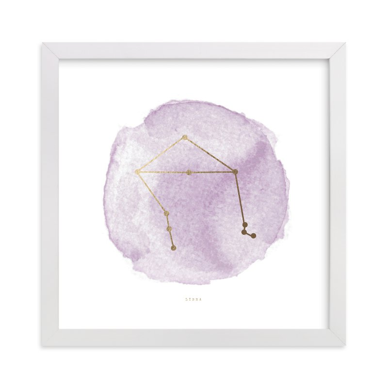 """Libra"" - Foil-pressed Art Print by annie clark in beautiful frame options and a variety of sizes."