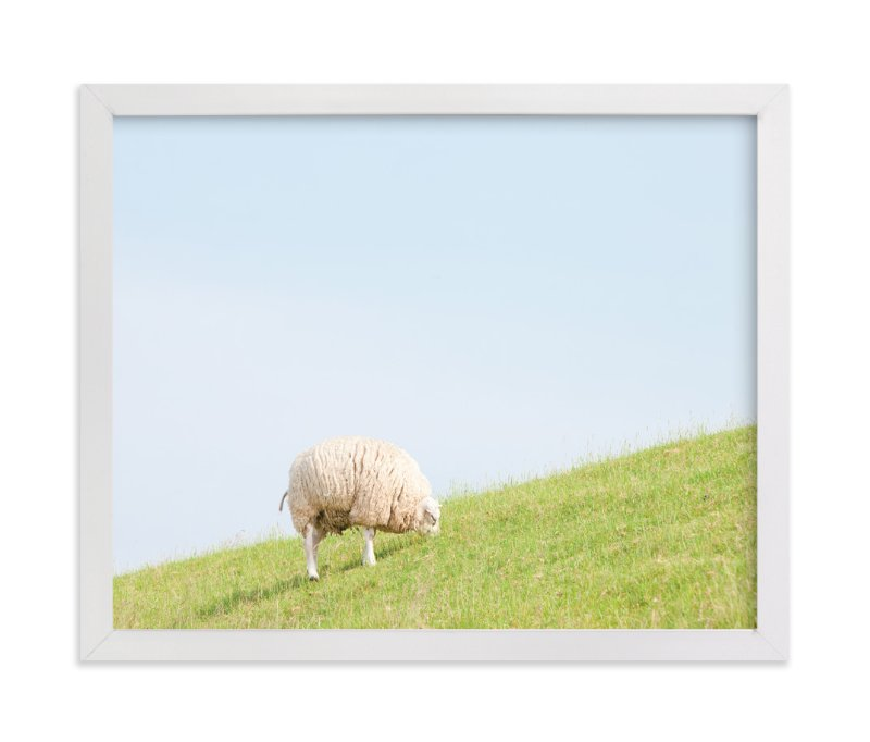 """""""Sheep at Lunch"""" - Art Print by Alexandra Feo in beautiful frame options and a variety of sizes."""