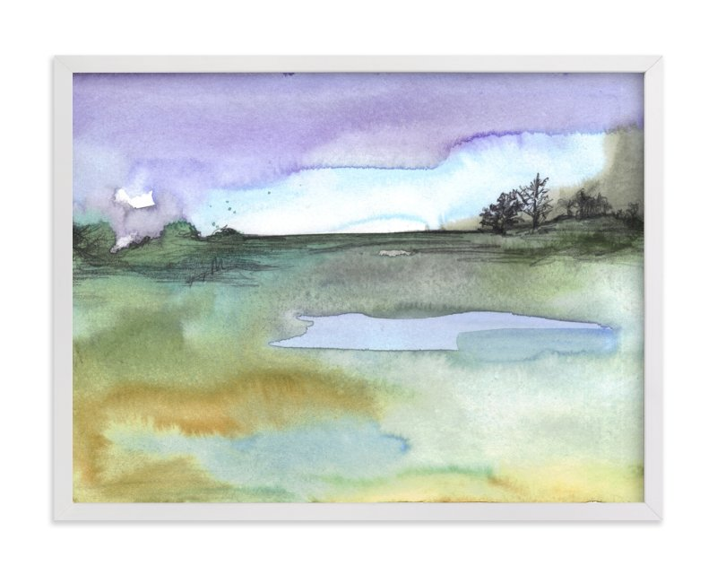 """""""Lavender Sky"""" - Art Print by Sonal Nathwani in beautiful frame options and a variety of sizes."""