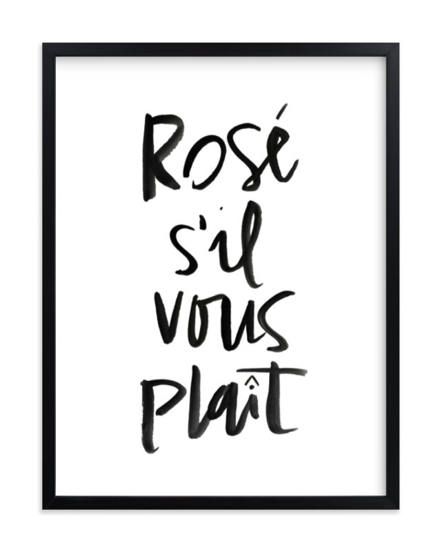 """Rosé S'il Vous Plaît"" - Art Print by Annie Montgomery in beautiful frame options and a variety of sizes."