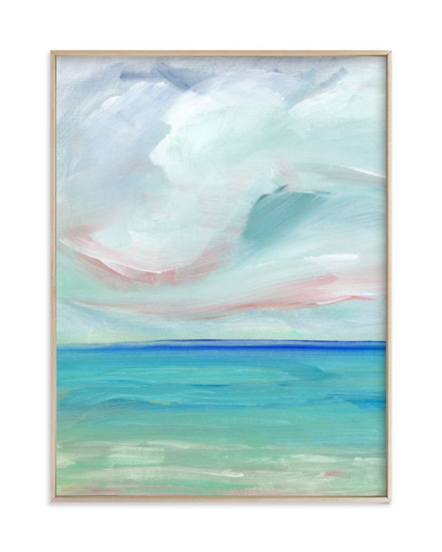 """Sea Escape"" - Art Print by Lindsay Megahed in beautiful frame options and a variety of sizes."