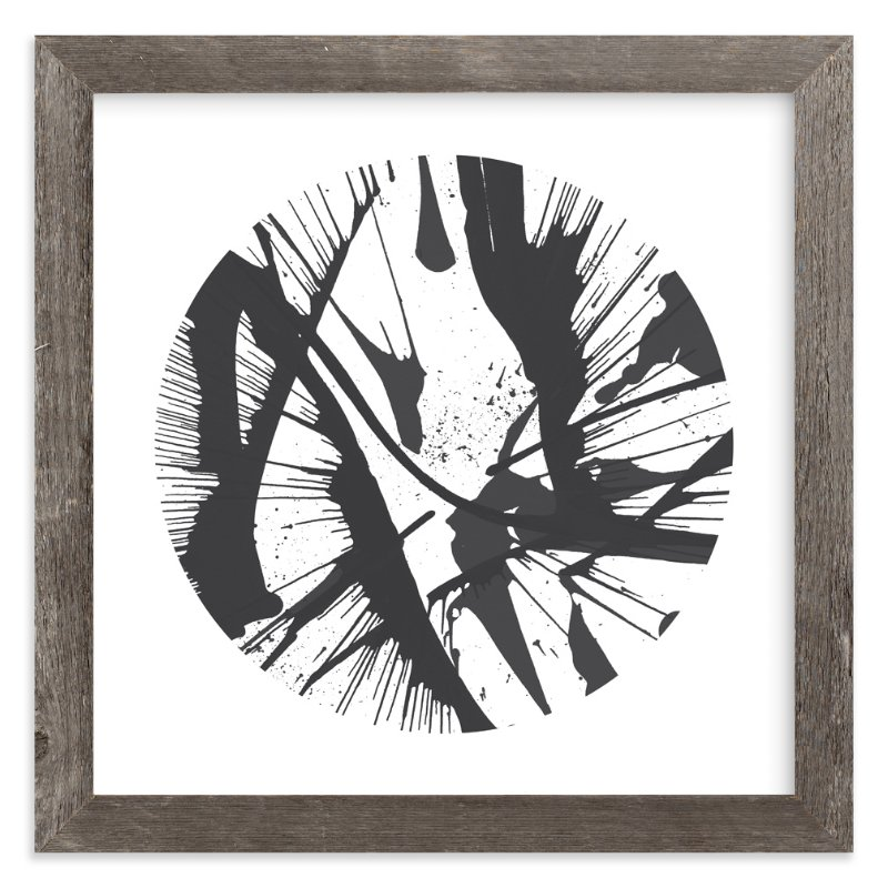 """Black & White Abstract Spin"" - Art Print by Lauren Webster in beautiful frame options and a variety of sizes."