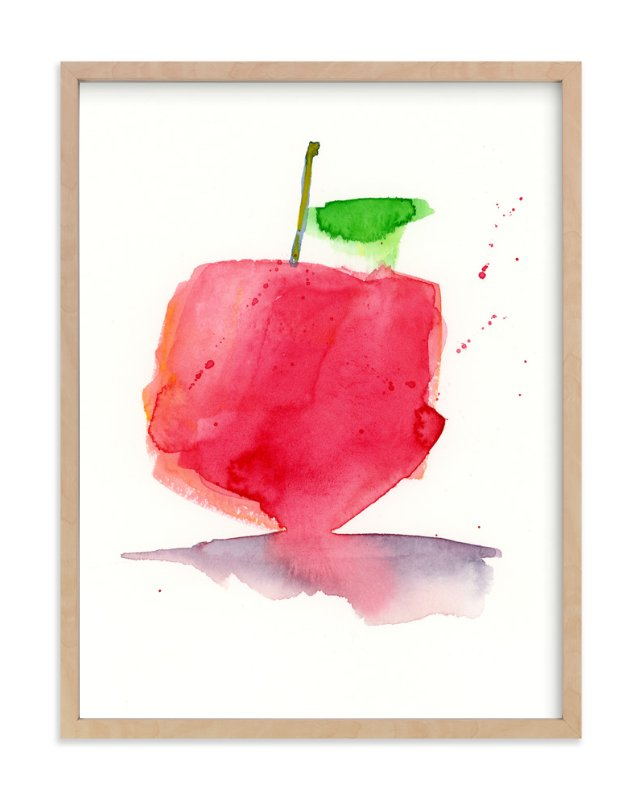 """Juicy Apple"" - Art Print by Lindsay Megahed in beautiful frame options and a variety of sizes."