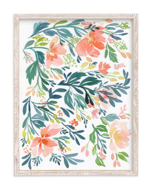 """""""Dancing Peonies"""" - Art Print by Natalie Malan in beautiful frame options and a variety of sizes."""