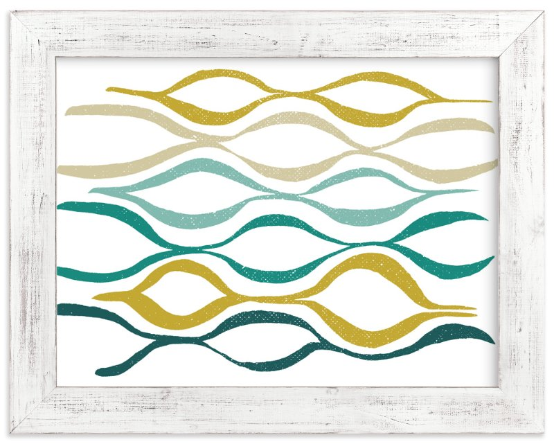 """Catch the Wave"" - Art Print by Stacy Kron in beautiful frame options and a variety of sizes."