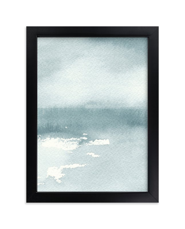 """Ice on the Lake"" - Art Print by Renee Anne in beautiful frame options and a variety of sizes."