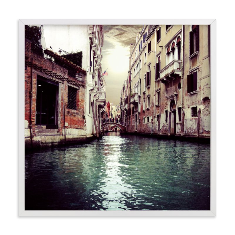 """""""The Floating City"""" - Art Print by Imelda Sherlock in beautiful frame options and a variety of sizes."""