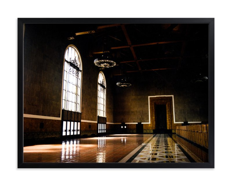 """Grand Ticket Concourse"" - Art Print by Tina Kuczaj in beautiful frame options and a variety of sizes."