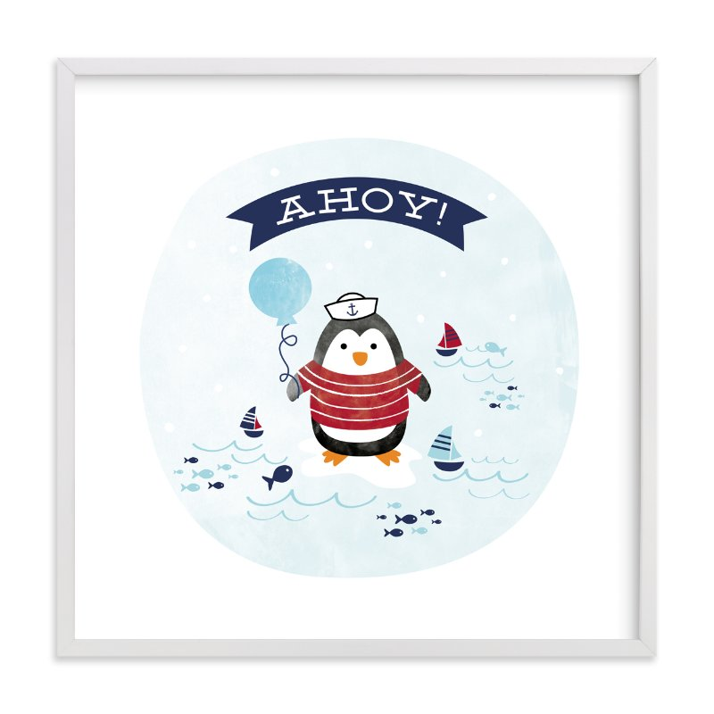 """""""Ahoy Matey!"""" - Art Print by Shirley Lin Schneider in beautiful frame options and a variety of sizes."""