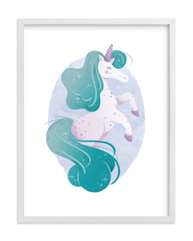 """""""One of a Kind Unicorn"""" - Art Print by Sam Dubeau in beautiful frame options and a variety of sizes."""