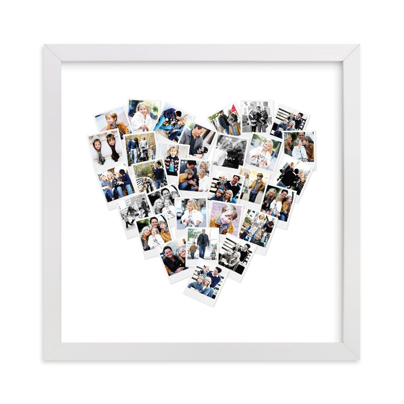 heart snapshot mix photo art wall art prints by minted minted