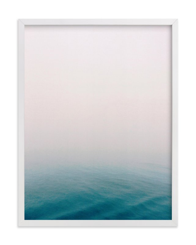 """""""Fog at Sea"""" - Art Print by SylvieCeres Designs in beautiful frame options and a variety of sizes."""