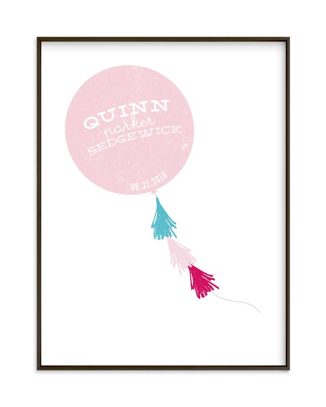 """Balloon Streamers"" - Children's Custom Art Print by Social Goods Co. in beautiful frame options and a variety of sizes."