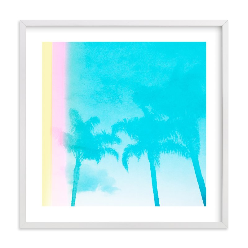 """Water Palms"" - Limited Edition Art Print by Kamala Nahas in beautiful frame options and a variety of sizes."