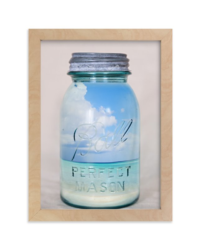 """Canned Beach"" - Art Print by Erin Niehenke in beautiful frame options and a variety of sizes."