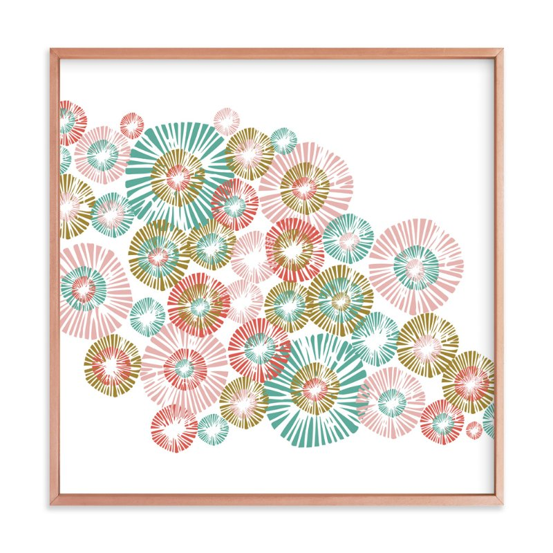 """""""Dahlia"""" - Art Print by Anna Marie Farmer in beautiful frame options and a variety of sizes."""