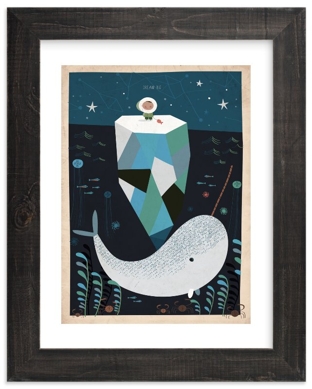 """Dream BIG"" - Limited Edition Art Print by Chris Lensch in beautiful frame options and a variety of sizes."