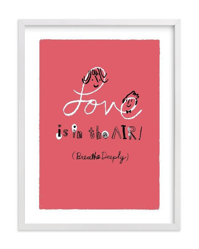 """""""Love is in the Air!"""" - Limited Edition Art Print by ERAY in beautiful frame options and a variety of sizes."""