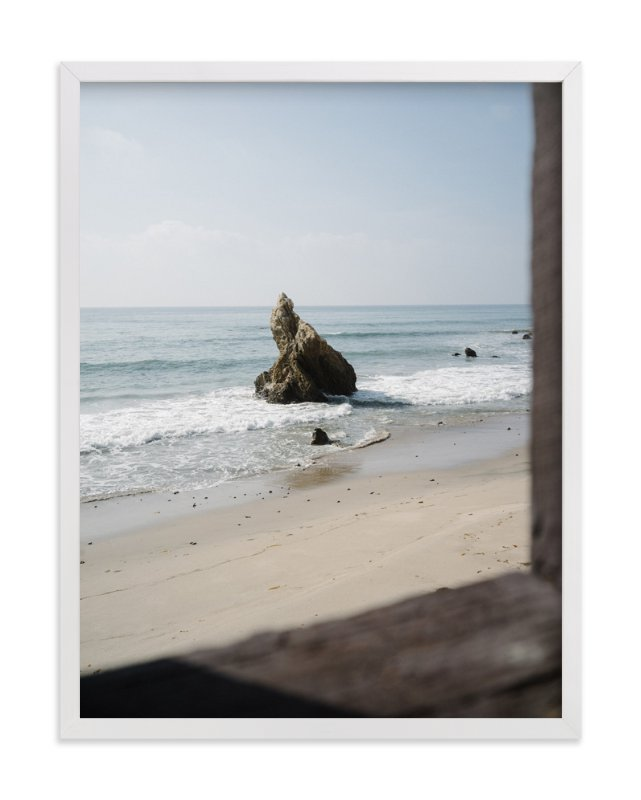 """""""That Malibu Rock"""" - Art Print by Christian Florin in beautiful frame options and a variety of sizes."""