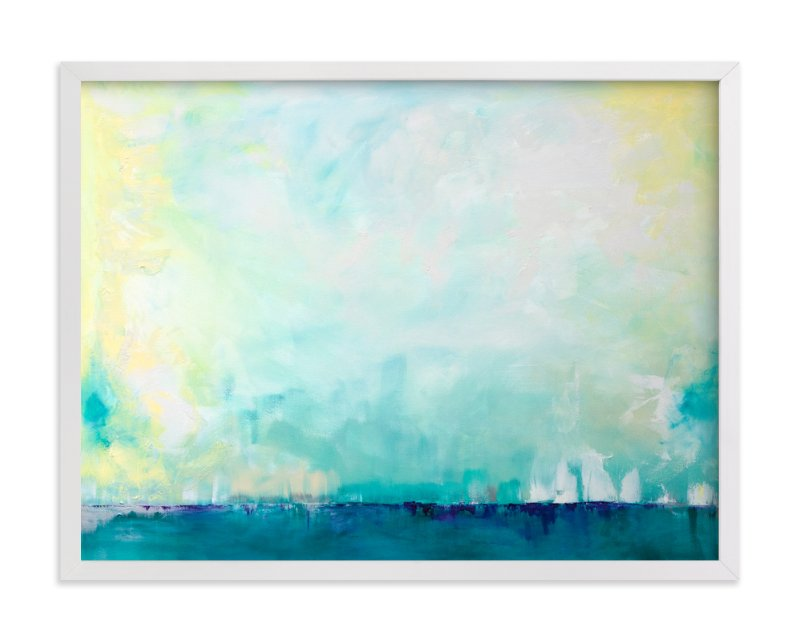 """Sail"" - Art Print by Julia Contacessi in beautiful frame options and a variety of sizes."