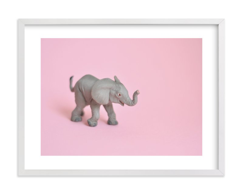 """Toy Elephant"" - Limited Edition Art Print by Kinga Subject in beautiful frame options and a variety of sizes."