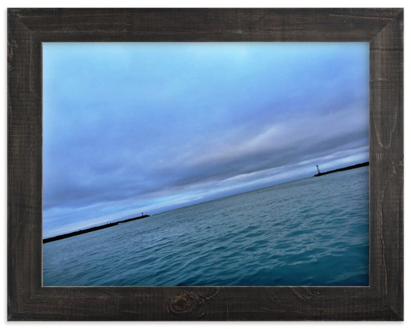 """Out into the Sea"" - Art Print by Brittany Bay in beautiful frame options and a variety of sizes."