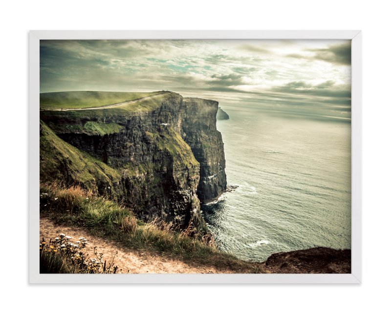 """""""Cliffs of Moher in Color"""" - Art Print by AR Photography in beautiful frame options and a variety of sizes."""