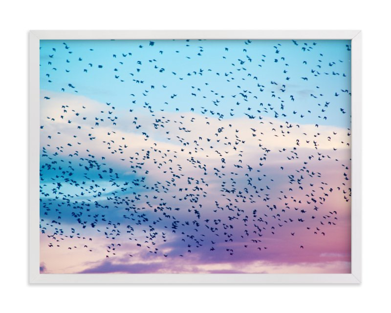 """Dream Sky"" - Limited Edition Art Print by lulu and isabelle in beautiful frame options and a variety of sizes."