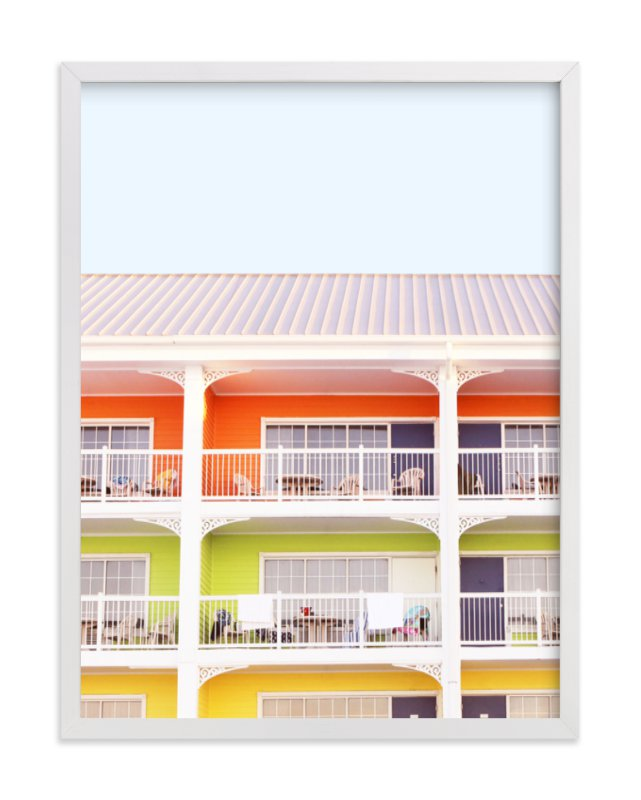 """""""colorful beach"""" - Art Print by Baumbirdy in beautiful frame options and a variety of sizes."""