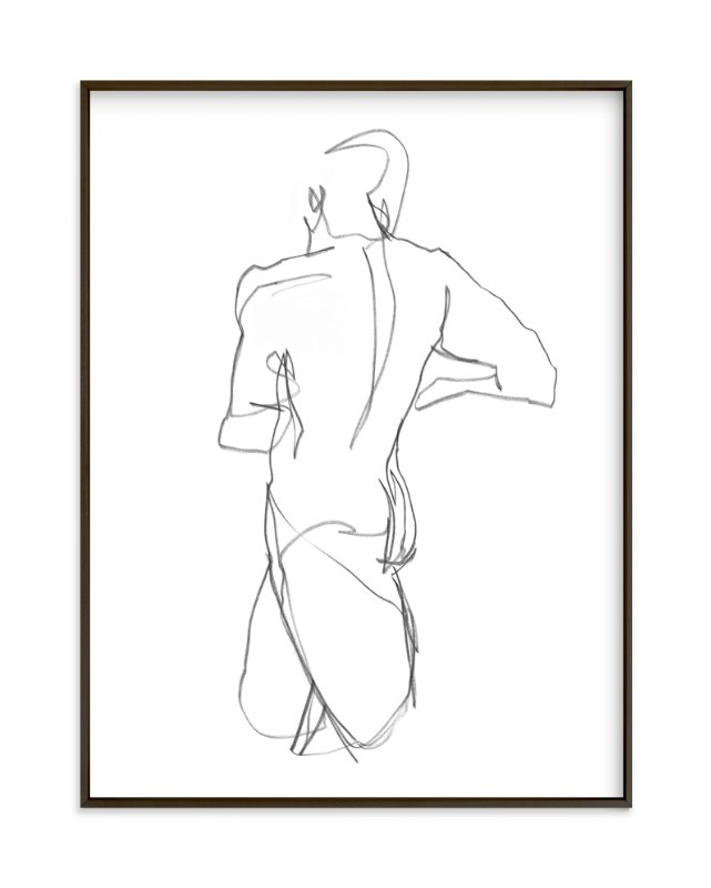 """Standing Figure"" - Art Print by Lorent and Leif in beautiful frame options and a variety of sizes."