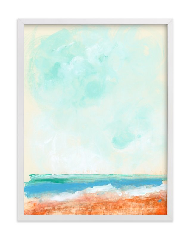 """""""Beach Blaze"""" - Art Print by Lindsay Megahed in beautiful frame options and a variety of sizes."""