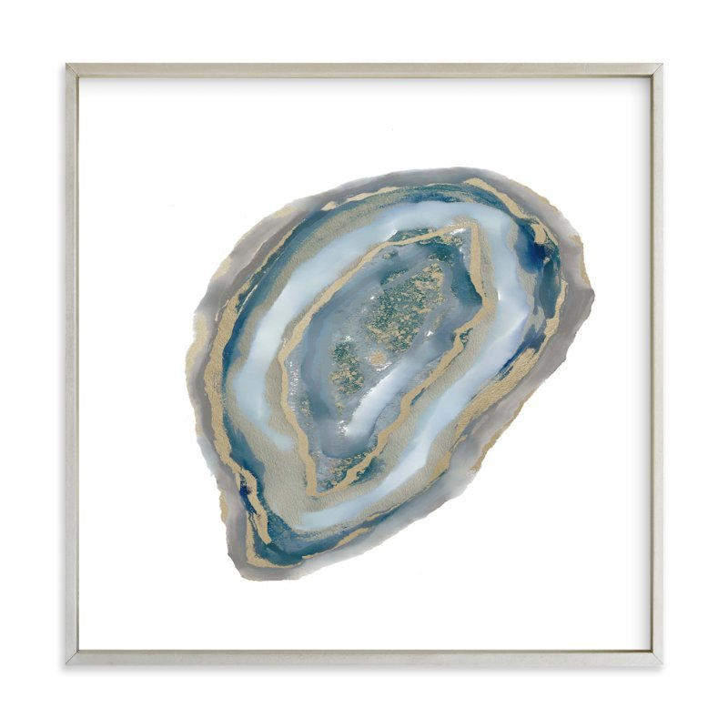 """Aqua Agate"" - Art Print by Amy Lighthall in beautiful frame options and a variety of sizes."
