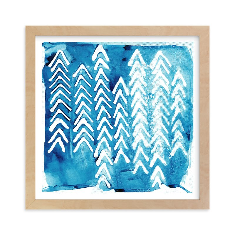 """""""Northern Flow 2"""" - Art Print by Paper Dahlia in beautiful frame options and a variety of sizes."""