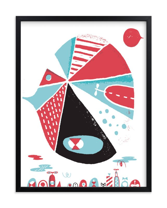 """""""Glink Glunk"""" - Art Print by ERAY in beautiful frame options and a variety of sizes."""