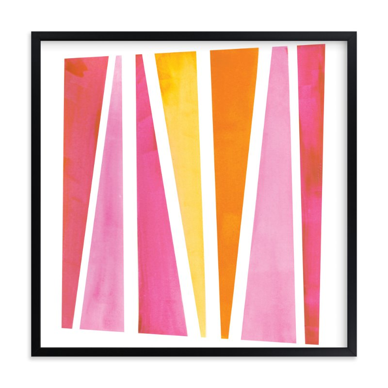 """Safari Stripe"" - Art Print by Christine Llewellyn in beautiful frame options and a variety of sizes."