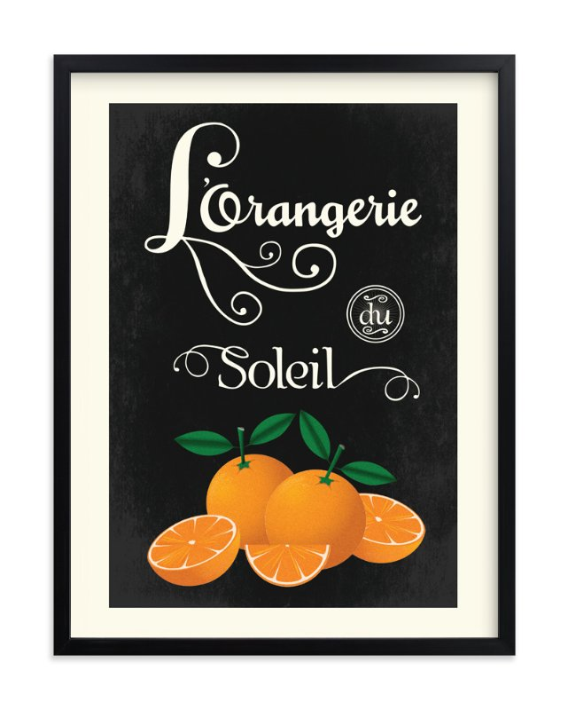 """Orangerie"" - Art Print by Designkandy in beautiful frame options and a variety of sizes."