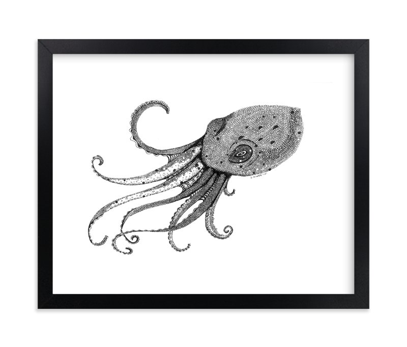 """""""Octo"""" - Limited Edition Art Print by Leah Reitz Winter in beautiful frame options and a variety of sizes."""