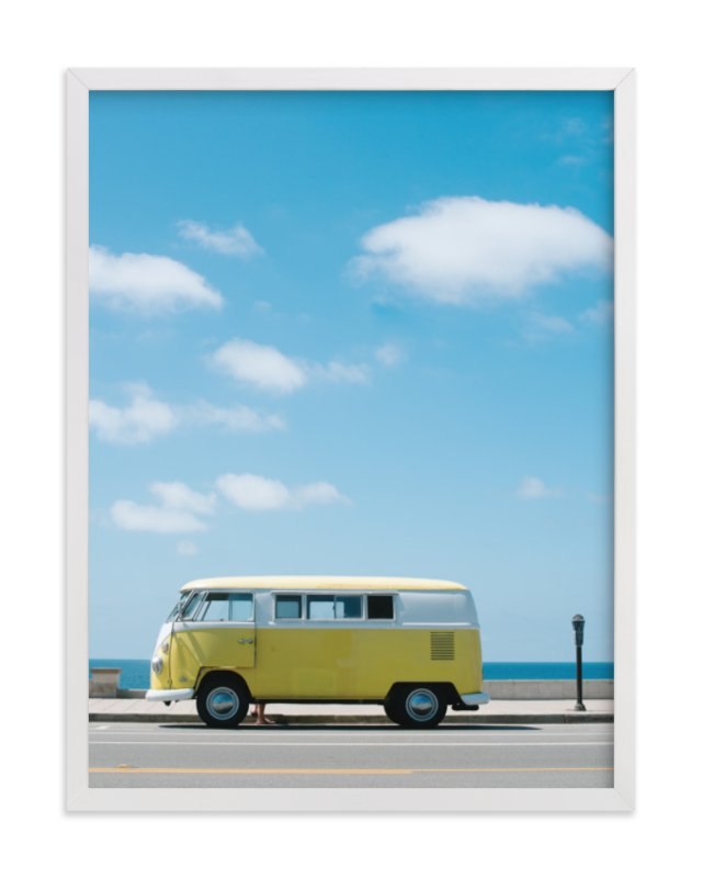 """""""Yellow Van II"""" - Art Print by Jennifer Little in beautiful frame options and a variety of sizes."""