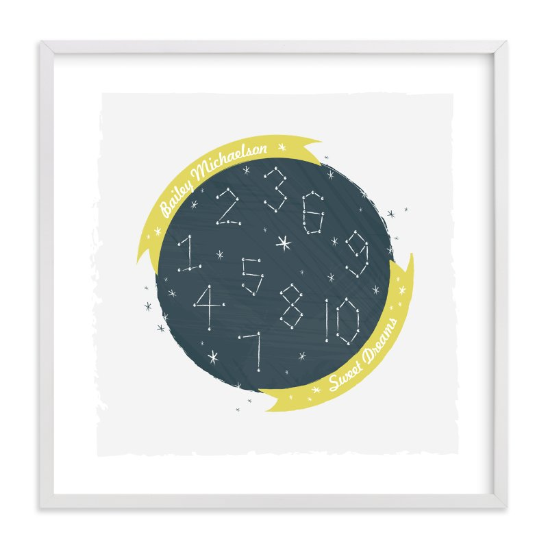 """""""Constellation Dreams"""" - Nursery Custom Art Print by Kayla King in beautiful frame options and a variety of sizes."""