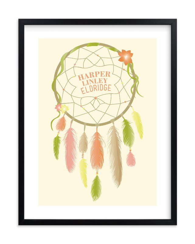 """""""Dreamcatcher"""" - Children's Custom Art Print by Red Impressionz in beautiful frame options and a variety of sizes."""