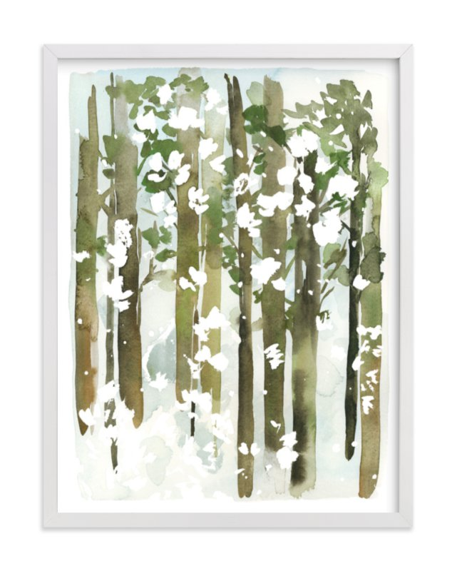 """Forest Snow"" - Art Print by Yao Cheng in beautiful frame options and a variety of sizes."