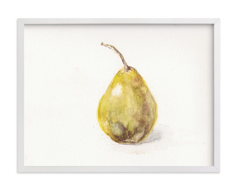 """""""Single Pear"""" - Art Print by Melinda Denison in beautiful frame options and a variety of sizes."""