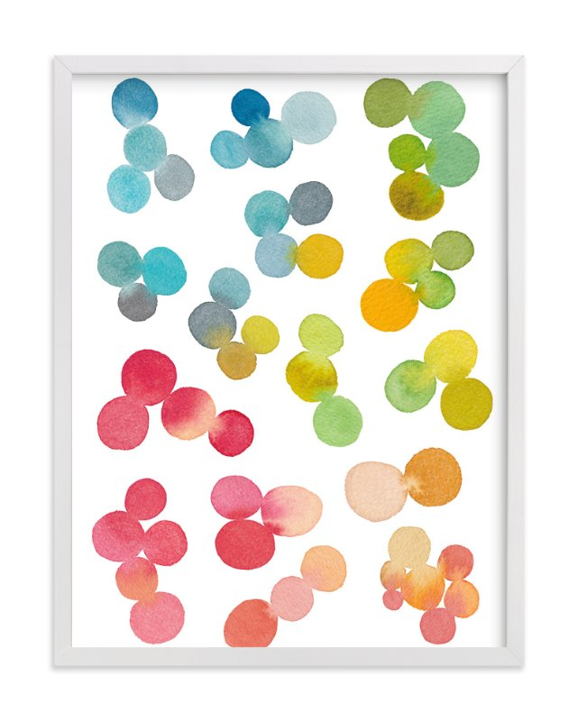 """Rainbow Rocks"" - Art Print by Pip Gerard in beautiful frame options and a variety of sizes."