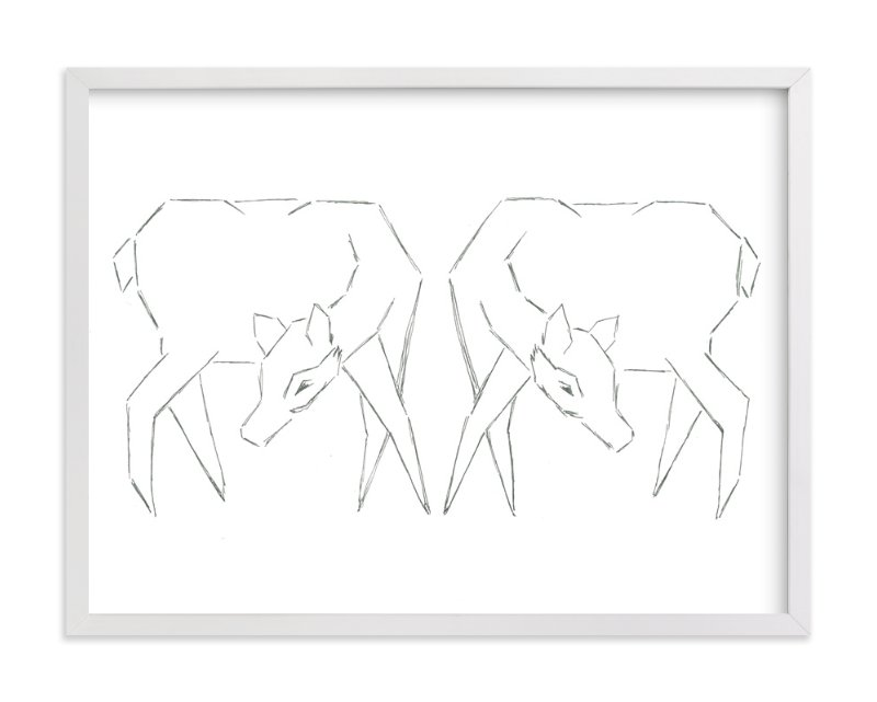 """Sisters"" - Art Print by Michelle Waldie in beautiful frame options and a variety of sizes."