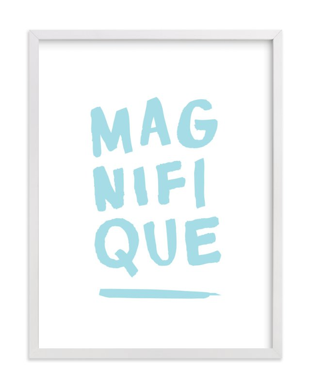 """Magnifique"" - Art Print by Marabou Design in beautiful frame options and a variety of sizes."
