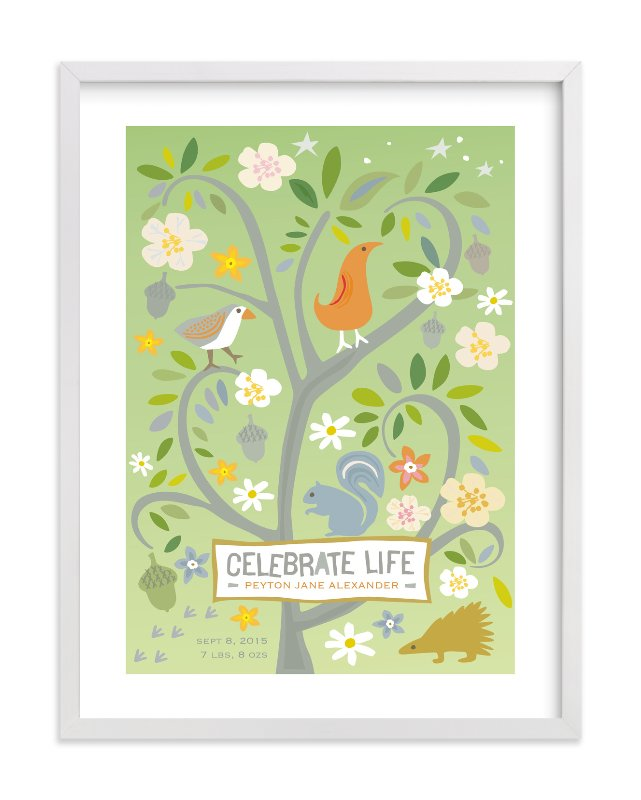 """Celebrate Life"" - Nursery Custom Art Print by Griffinbell Paper Co. in beautiful frame options and a variety of sizes."